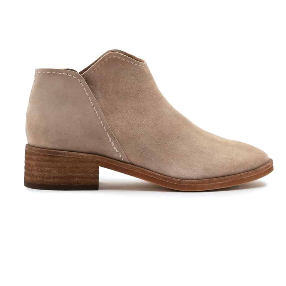 Dolce Vita Trist Low Bootie In Dark Taupe 61378