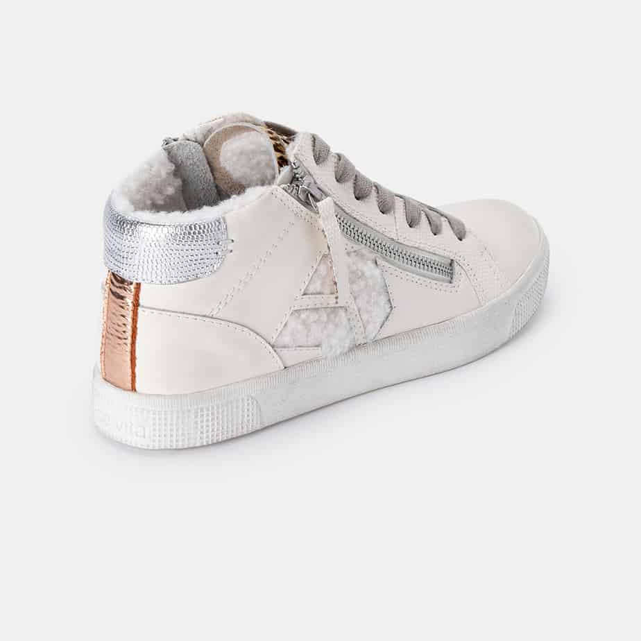 Dolce Vita Zonya Multi Plush Sneaker In White 72393