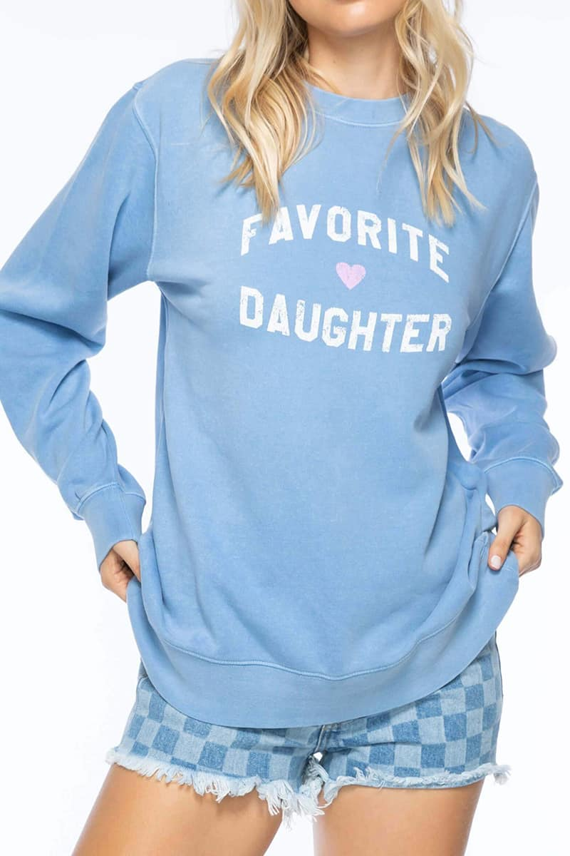favorite daughter willow sweatshirt in lt blue 85768
