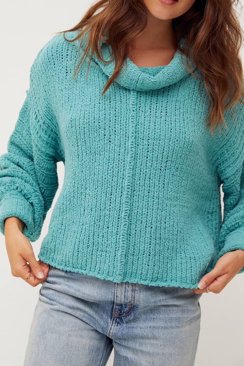 Free People Be Yours Top In Emerald Aura 75547