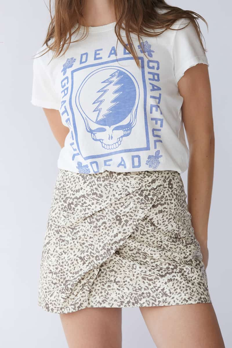 Free People Fake Out Wrap Skirt In Light Combo 75548