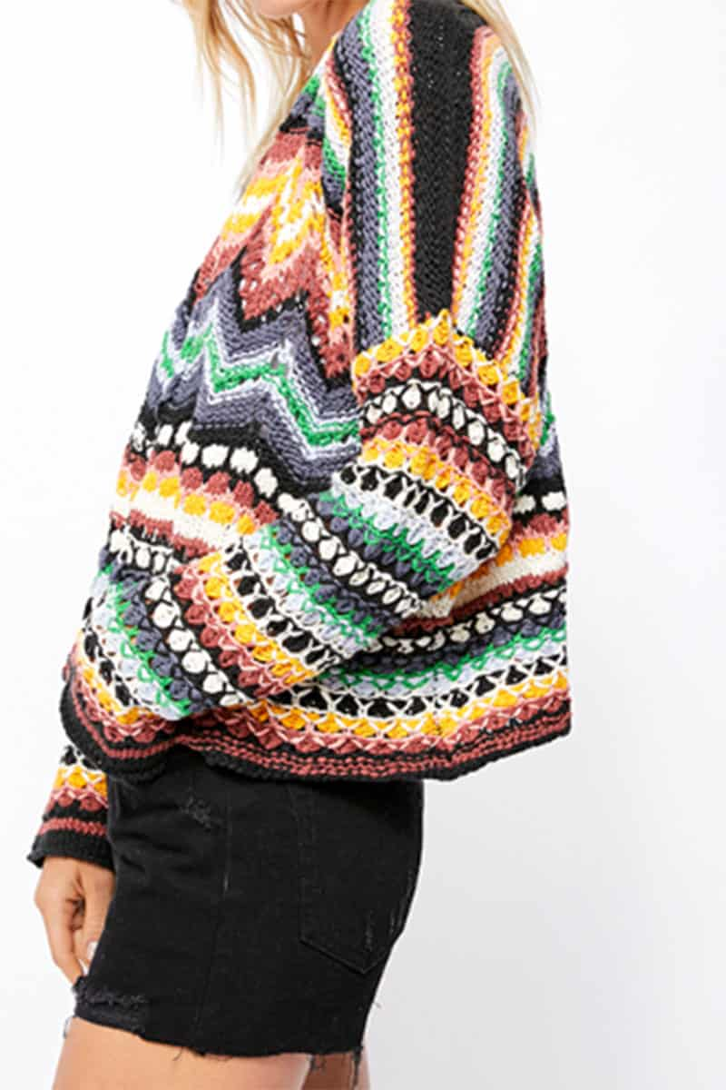 Free People Felling Nostalgic Sweater In Jubilee 53442
