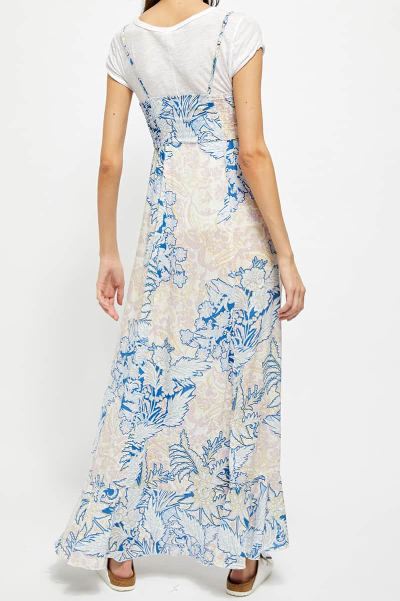 Free People Forever Yours Slip In Blue Combo 64398