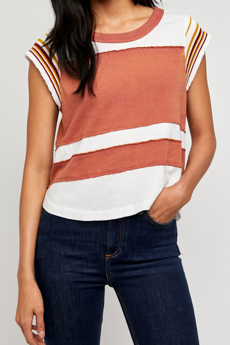 free people hint of stripe retro combo 82579