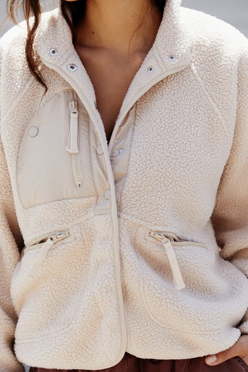 Free People Hit The Slopes Jacket In Fawn 70536