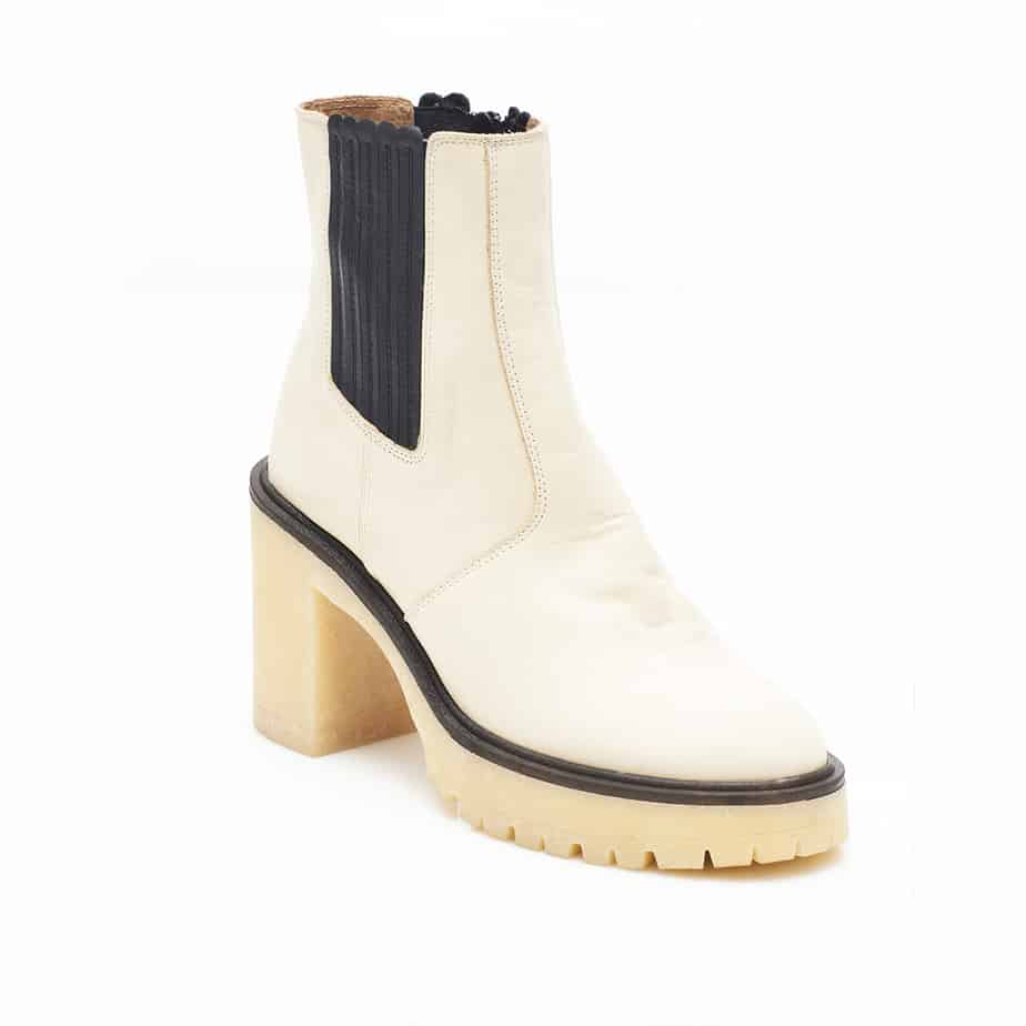 free people james chelsea boot in white 93416