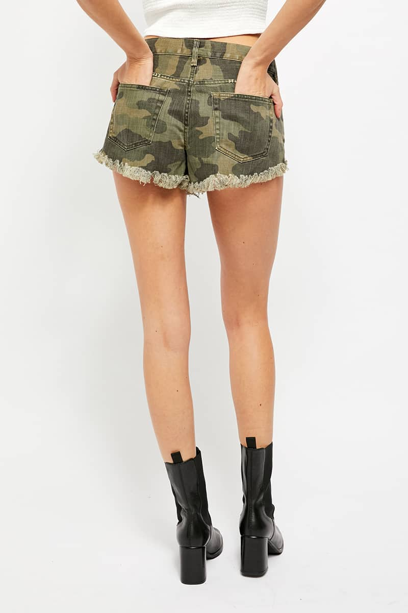 Free People Loving Good Vibration Cut Off In Camo 71685