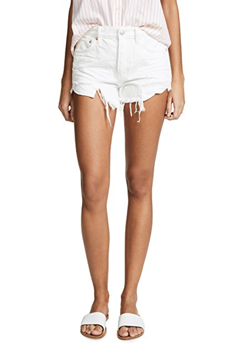 Free People Loving Good Vibrations Cut Off In White 59050