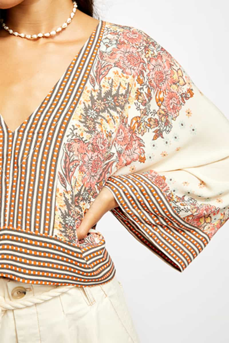 Free People Mix And Match Top In Tea Combo 51993