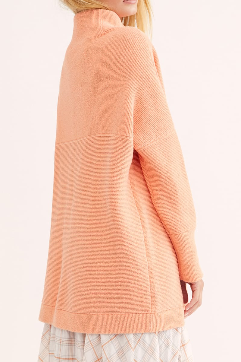 Free People Ottaoman Slouchy Tunic In Apricot 75834