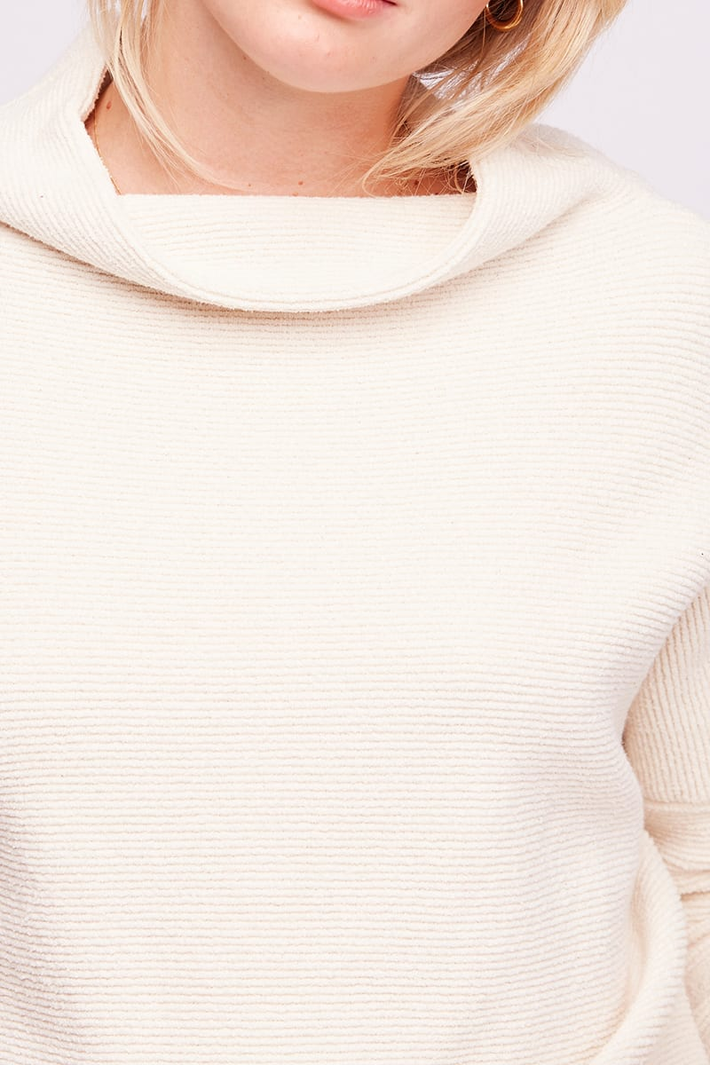 Free People Ottoman Slouchy Tunic Sweater In Ivory 78494