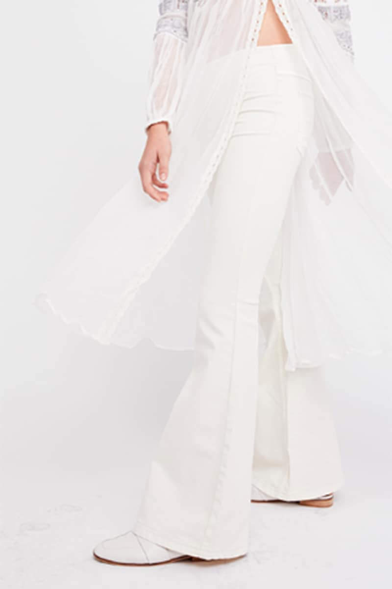 Free People Penny Pullon Flare In Worn White 66210