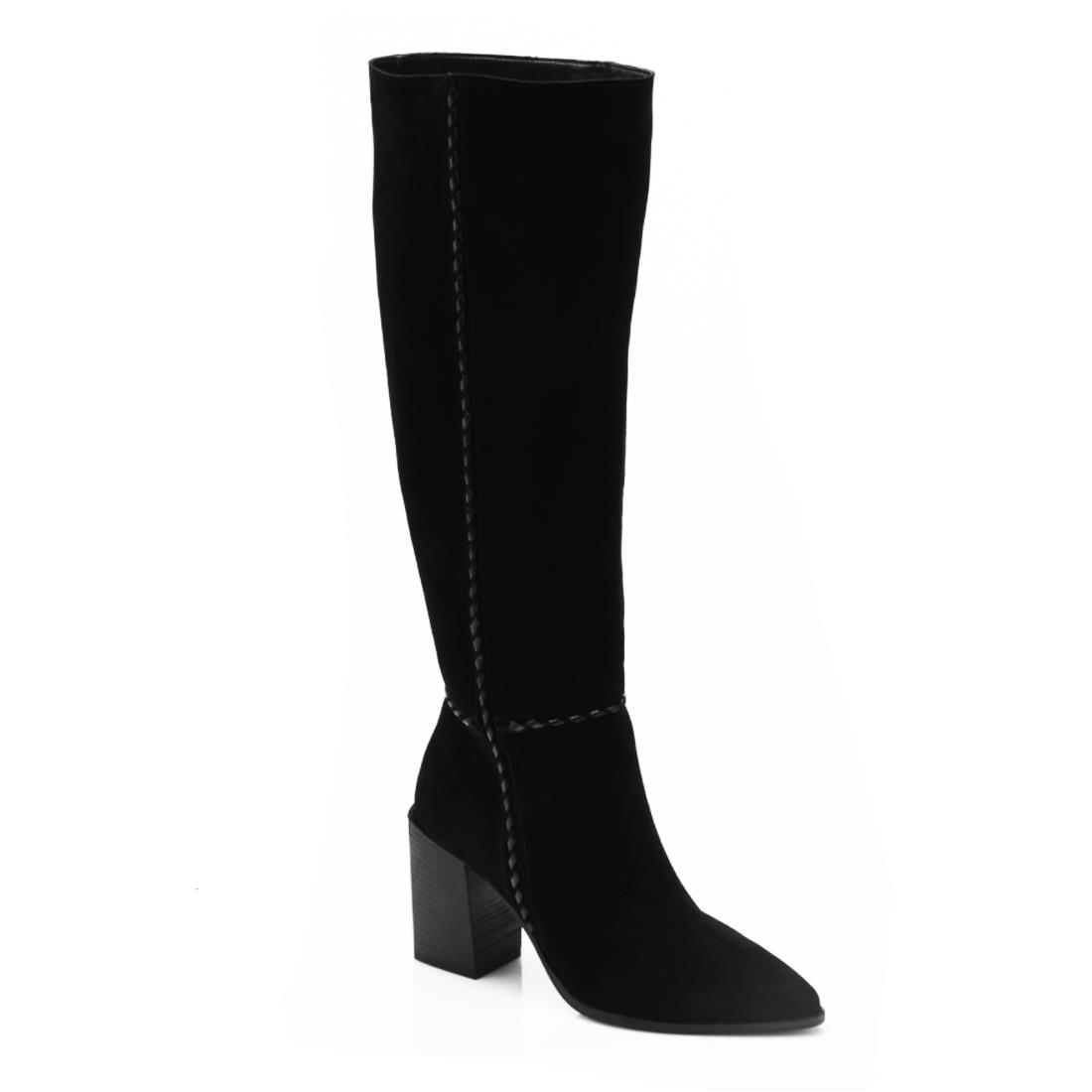 free people riley whipstitch tall black boot 96026
