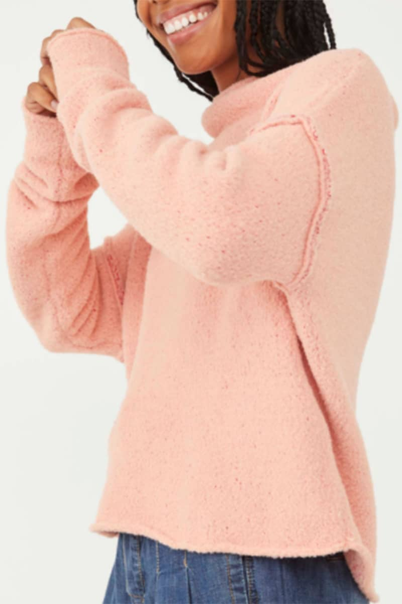 free people san vicente pullover in cherry peach combo 95613