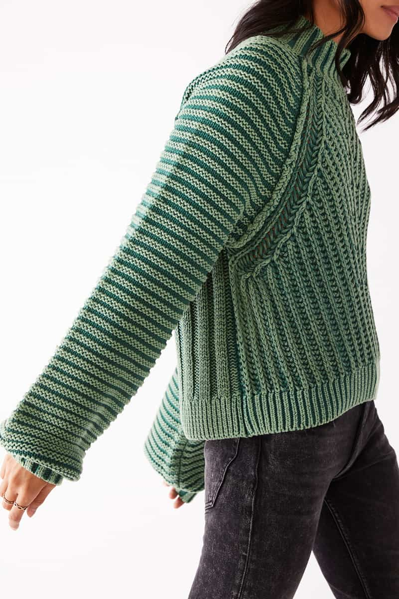 Free People Sweetheart Sweater In Botany 75450