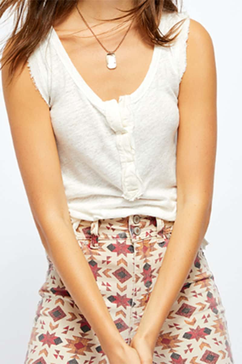 Free People Vacay Tank In White 53480