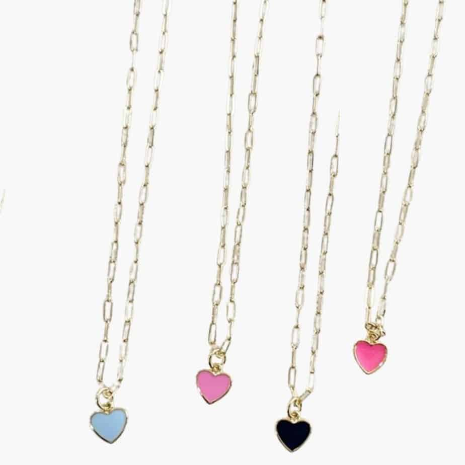 happy heart bright pink necklace 87769