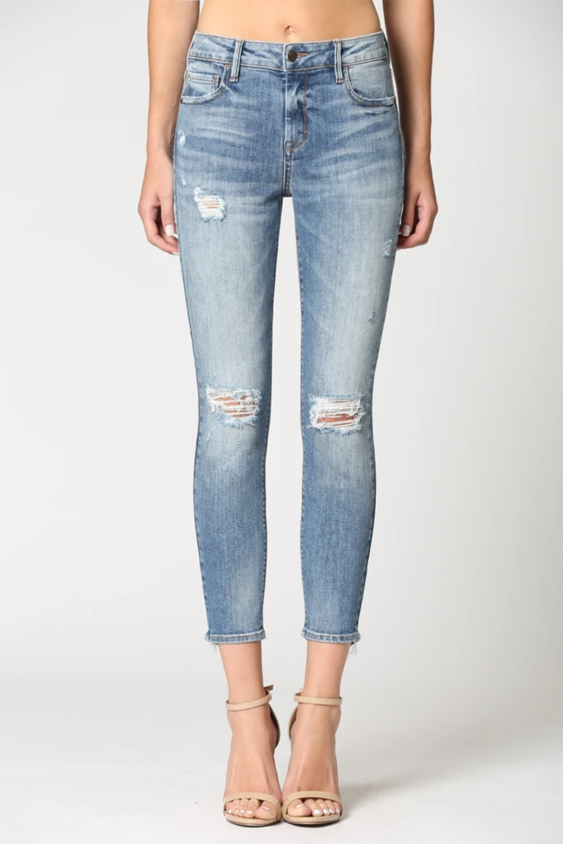 Hidden Jeans Amelia Skinny In Medium Blue 65582
