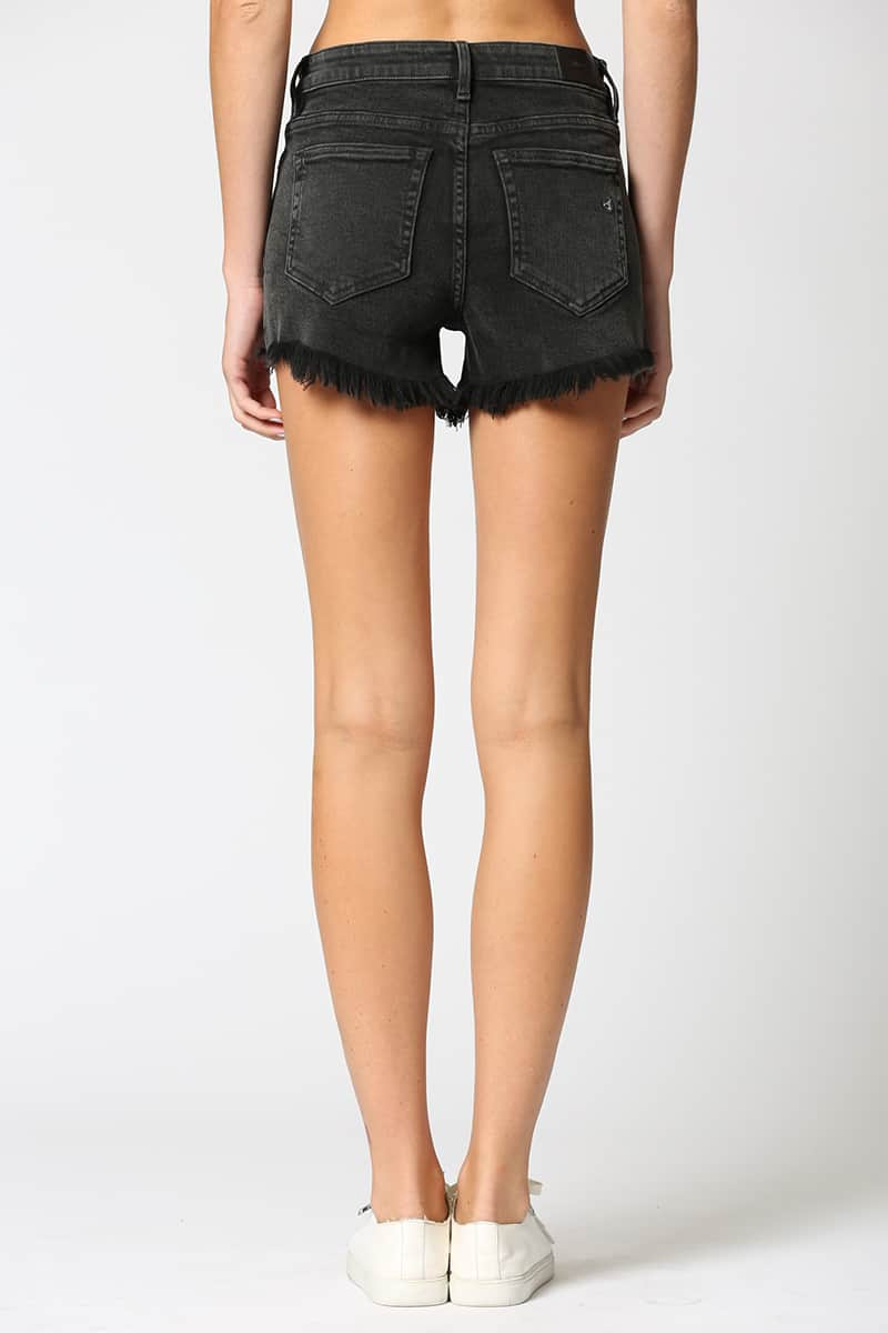 Hidden Jeans Finn Cut Off In Washd Black 65941