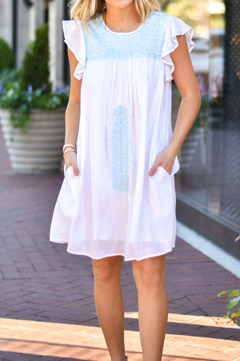 j marie collections eleanor dress in light blue 90675