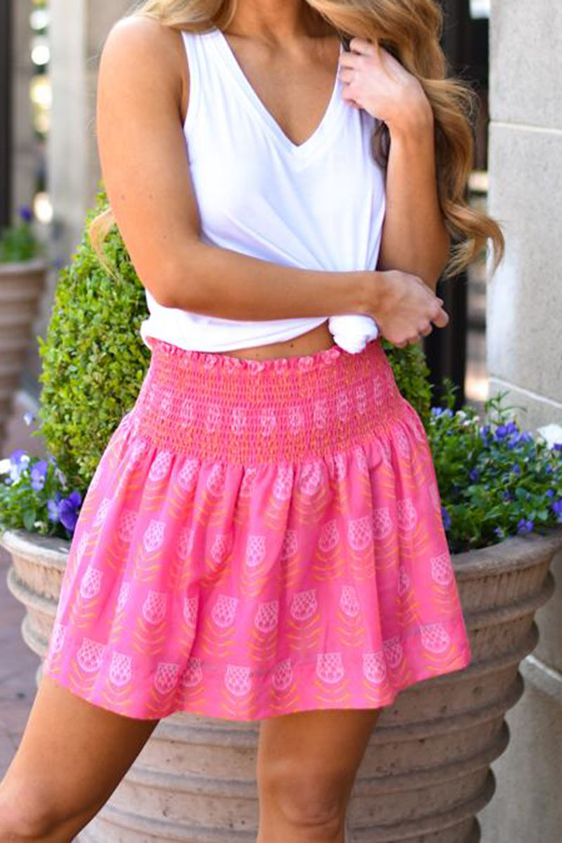 j marie collections maeve skort in pinkpink and orange 95119