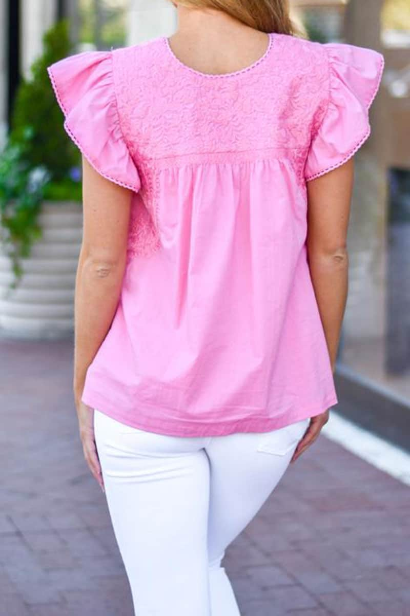 j marie collections mary kate top in pink 90678