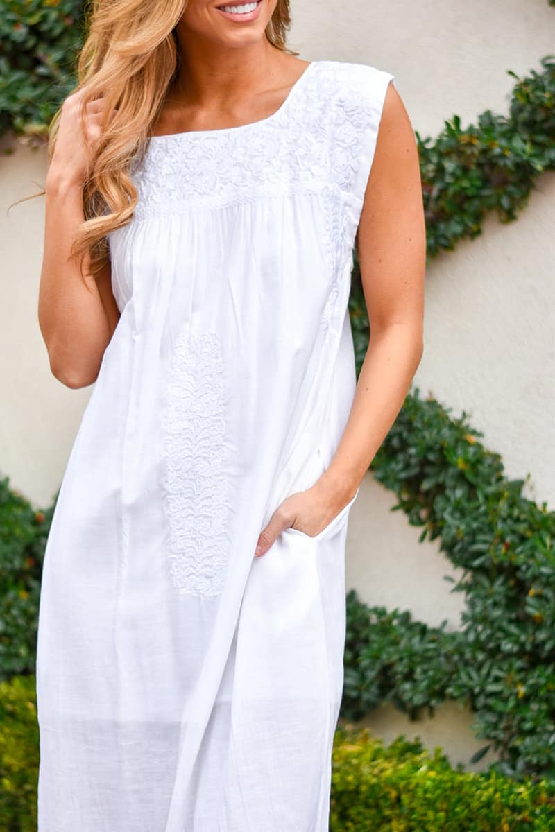 j marie collections mona midi white embroidered dress 84974