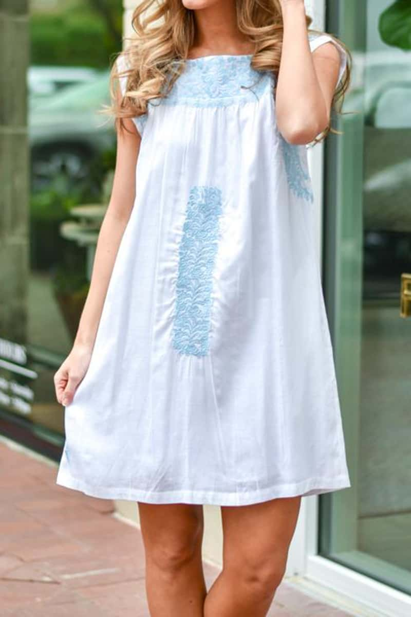 j marie collections white willow dress with lt blue embroidery 82216