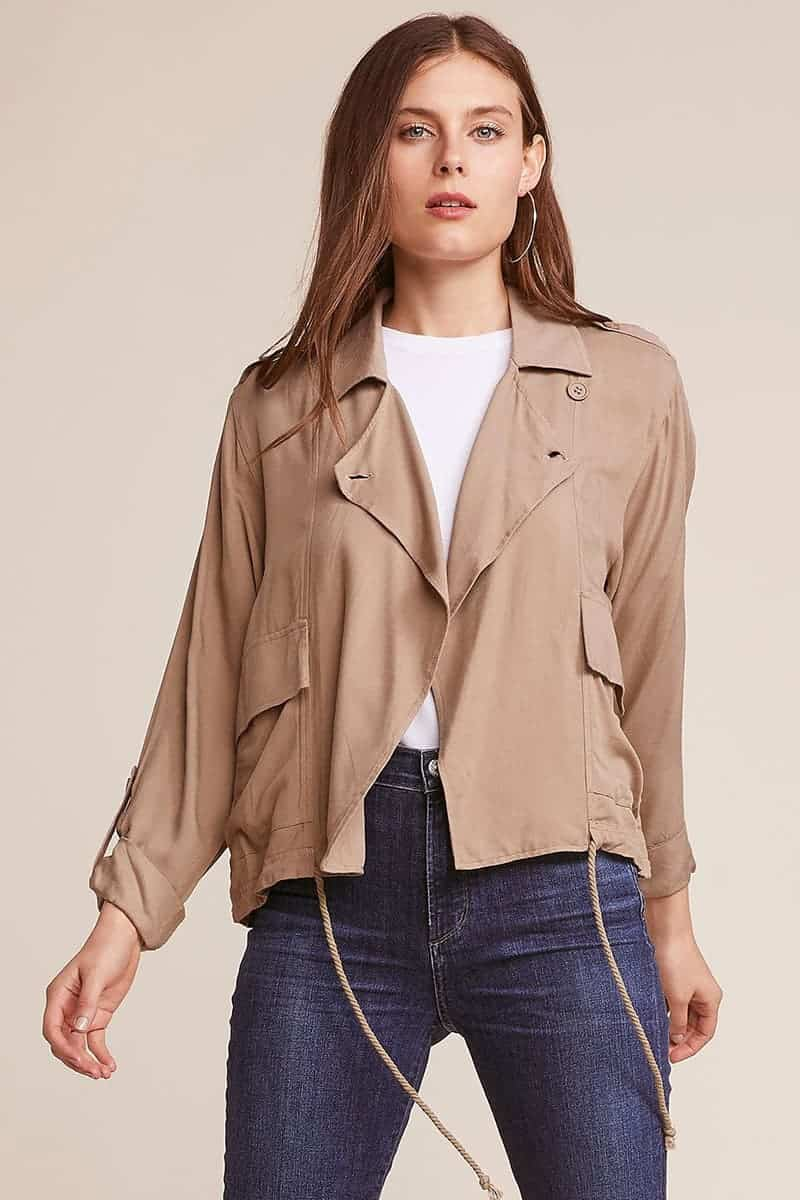 8cbc1d2b759 Jack By BB Dakota Always and Forever Drawstring Jacket in Wolf Brown ...