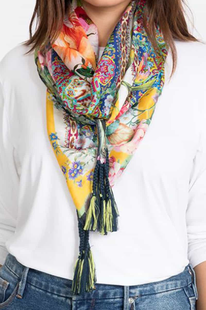 Johnny Was Collection Antique Paisley Scarf 53287
