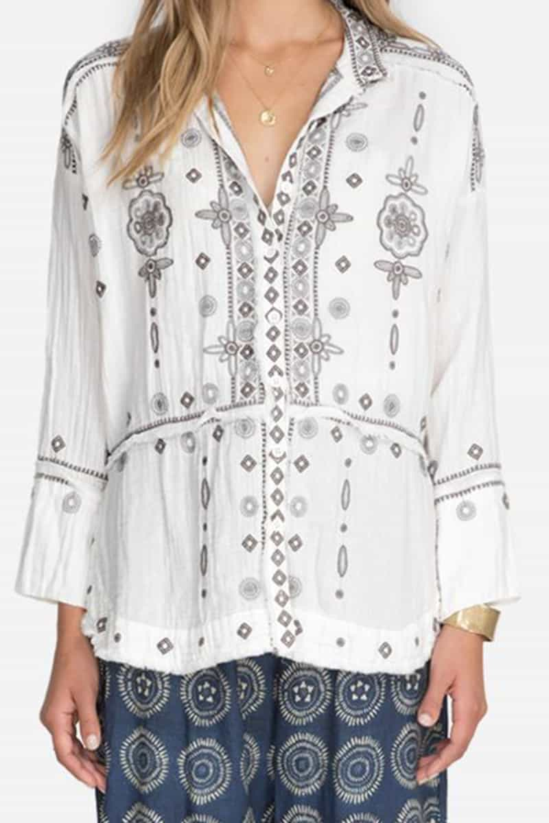 Johnny Was Pete Greta Bacup Blouse In Natural 81134