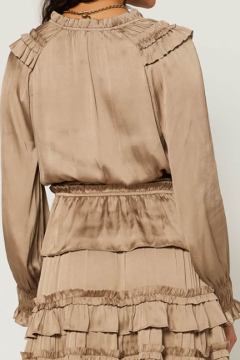 ls surplice top in silky taupe 91947