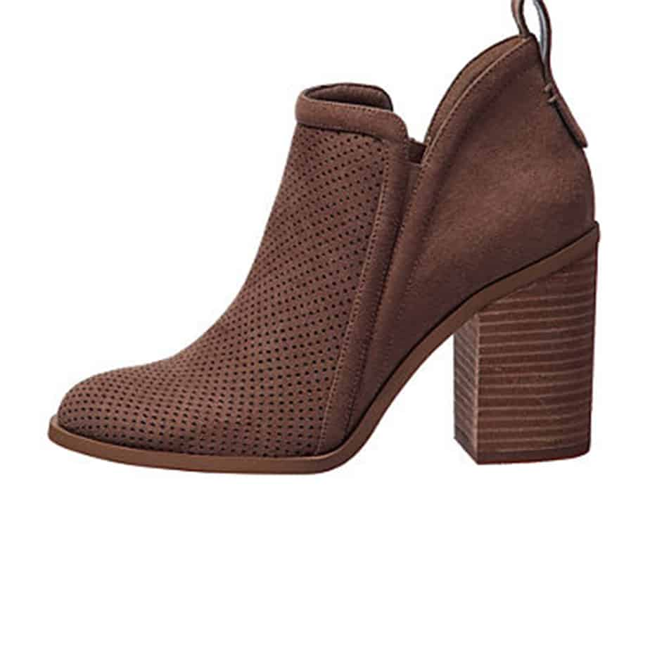 Madden Girl Evita Taupe Perforated