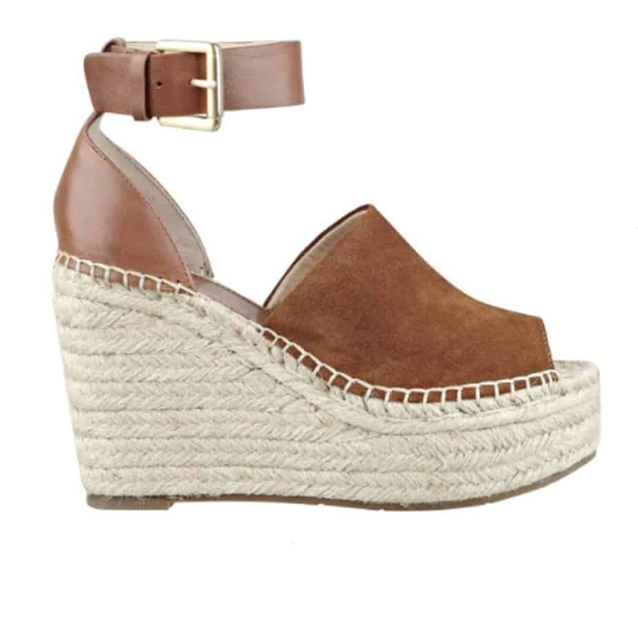 d9e6a7b353e Marc Fisher Adalyn Suede Wedge in Natural • Cotton Island Women s ...
