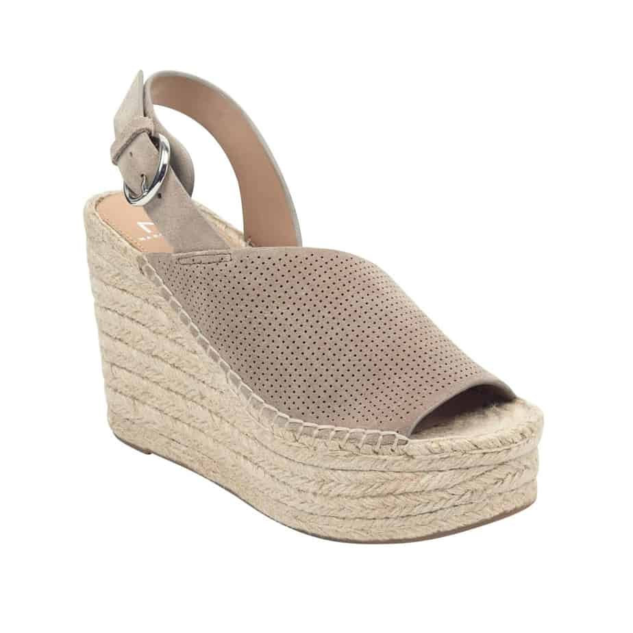 bc65359e29 Marc Fisher Andela Suede Wedge in Medium Natural • Cotton Island ...