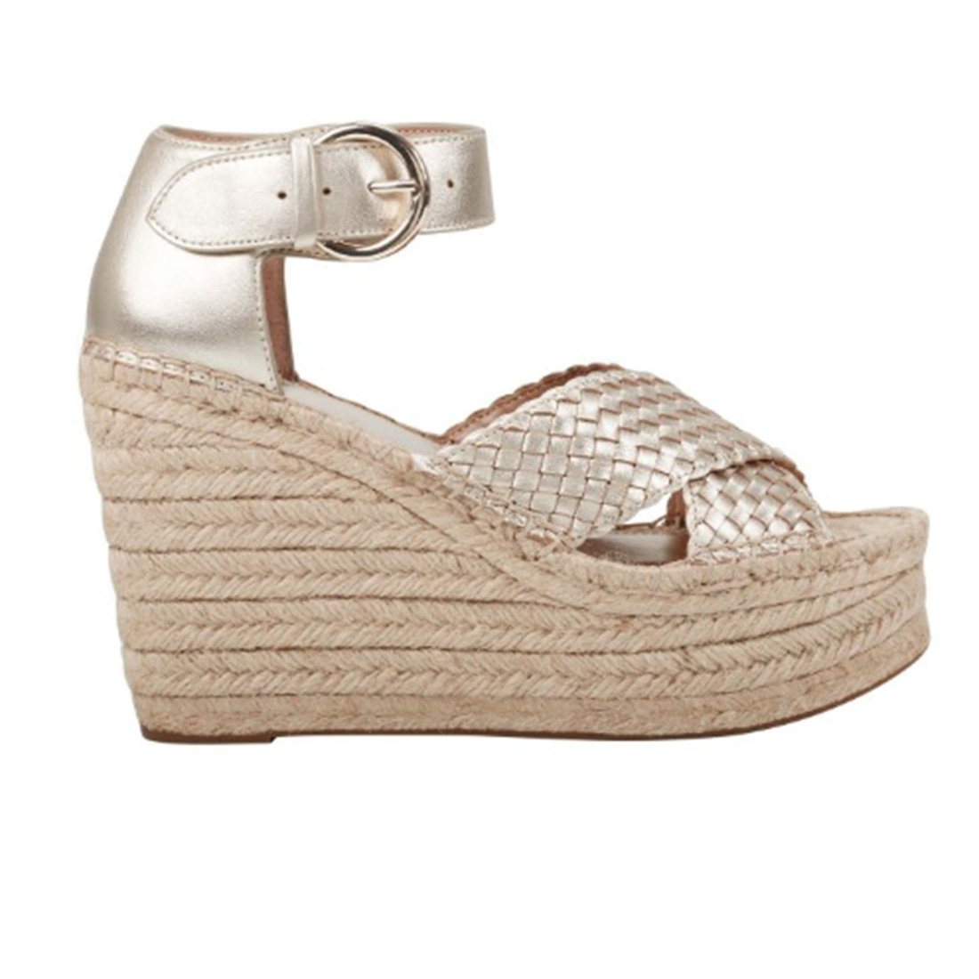 Marc Fisher Aylon Gold Leather Wedge 61496