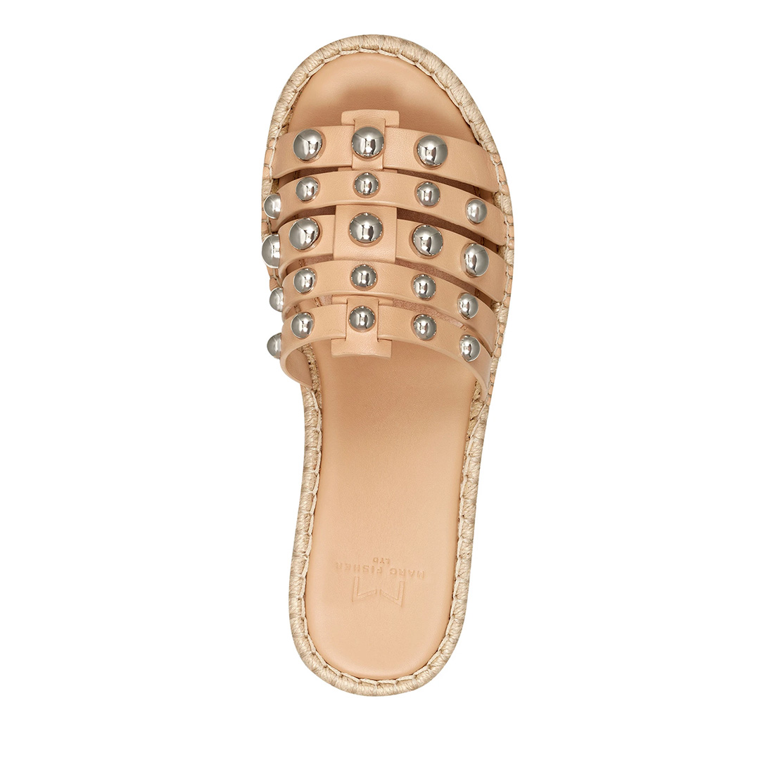 Marc Fisher Tamie Studded Sandal In Natural 62580