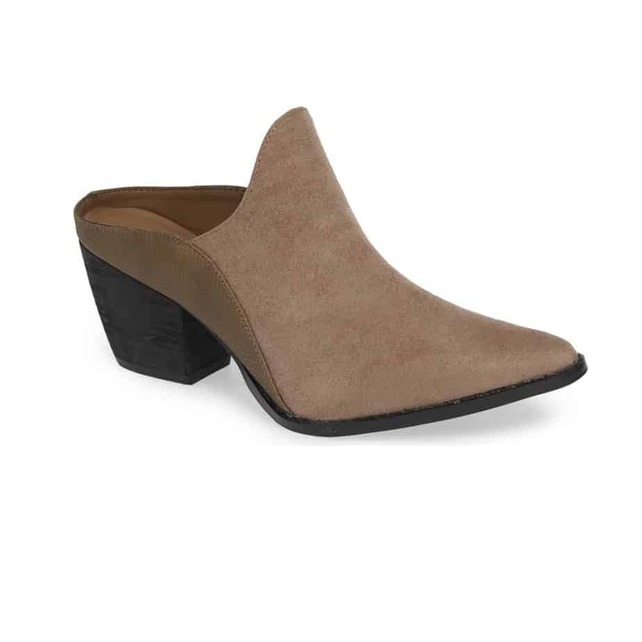 Matisse Leave It Mule In Lt Taupe Suede 32643