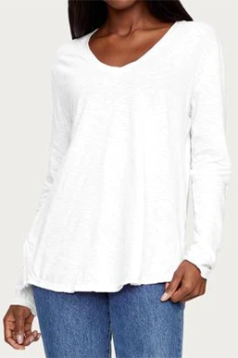 Michael Stars 100 Cotton Janna Top In White 64995
