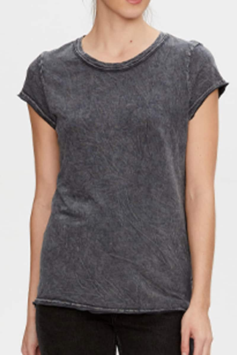 Michael Stars 100 Cotton True Tee In Black 70533