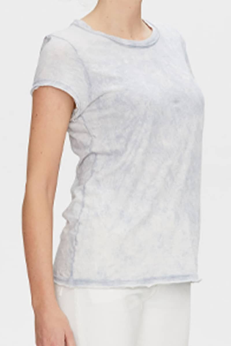 Michael Stars 100 Cotton True Tee In Oyster 70532