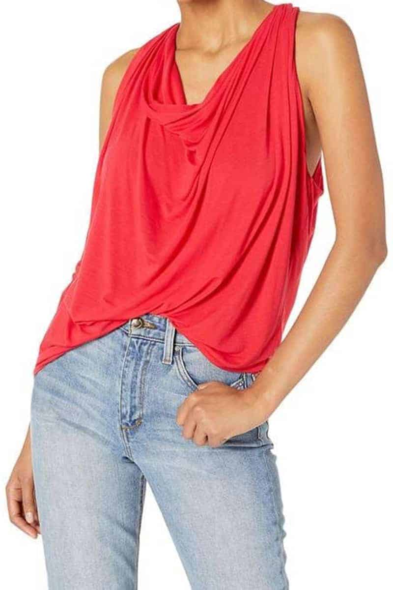 Michael Stars Eve Cowl Neck In Heart 66036