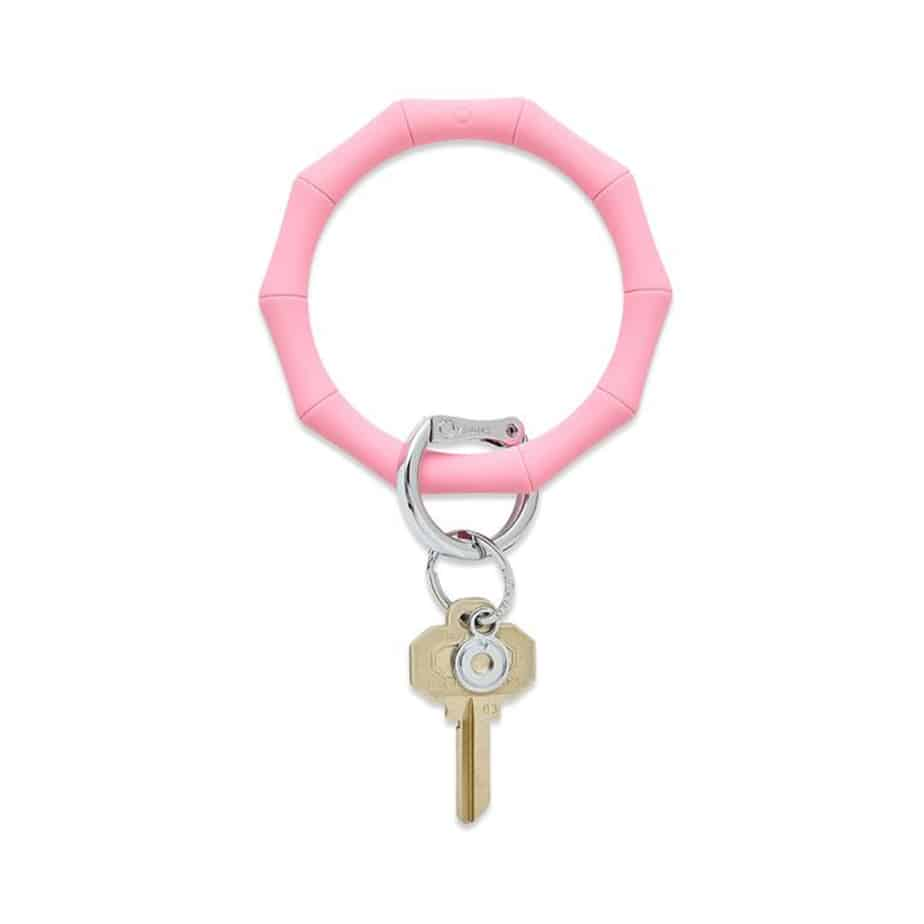 o venture silicone bamboo key ring in cotton candy 87070