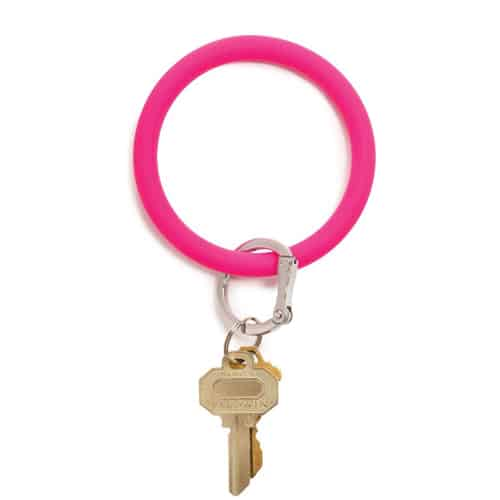 o venture silicone o ring tickled pink keyring 91745