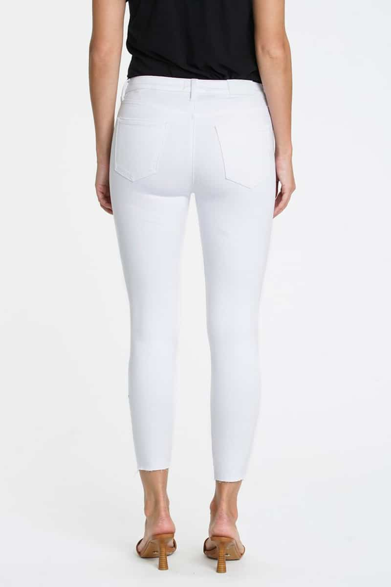 Pistola Audrey Midrise Skinny Jean In Wrecked Pearl 81158