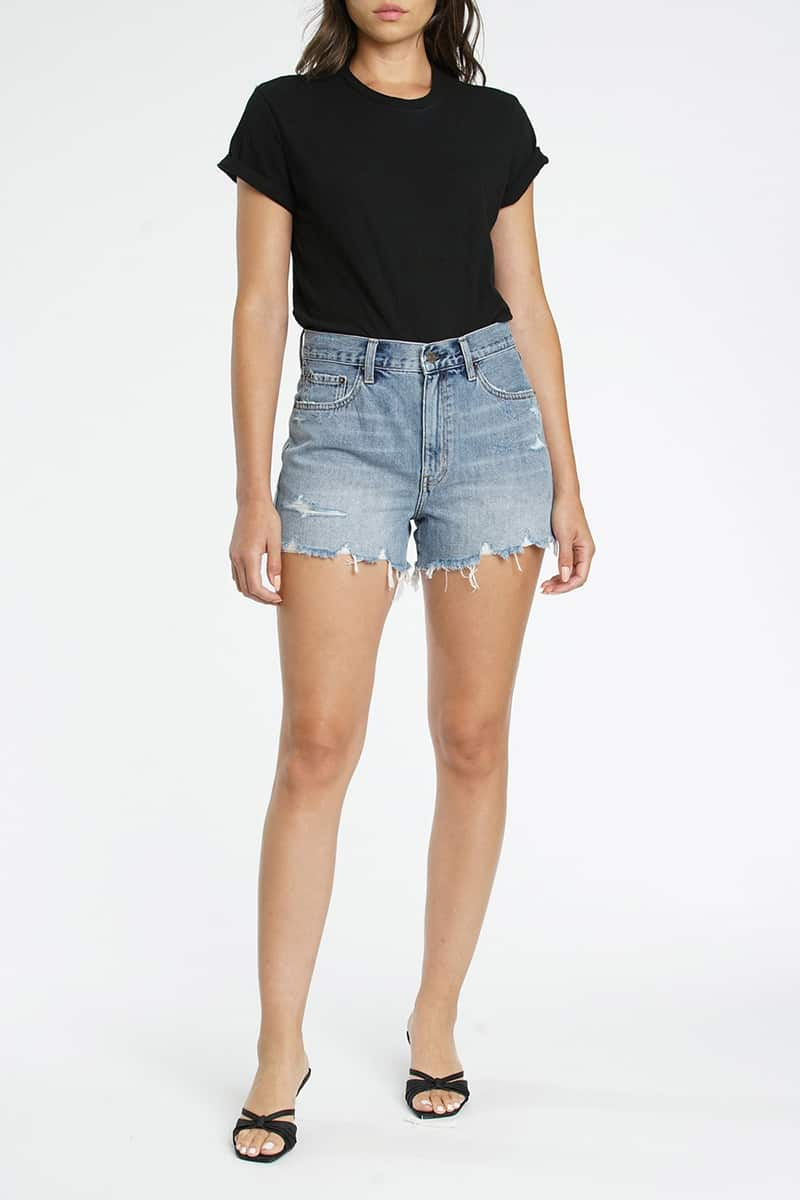 Pistola Denim Nova Relaxed Cut Off In First Time 65653