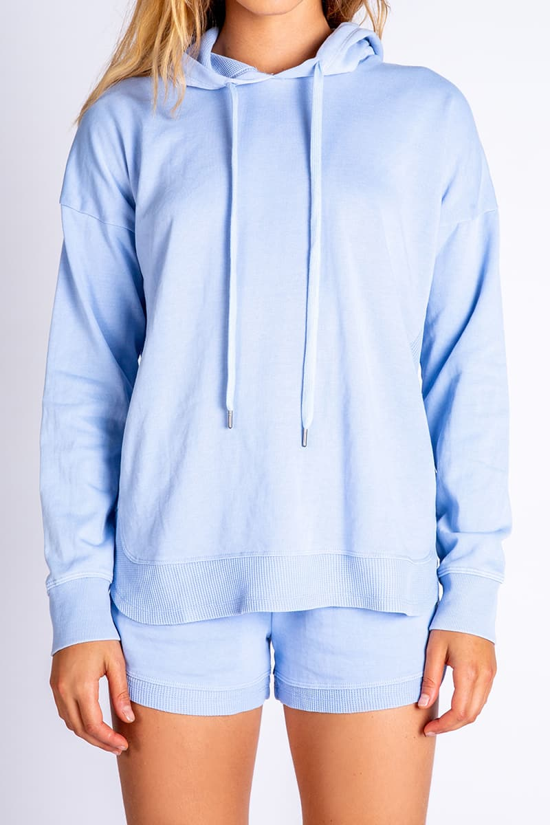 Pj Salavge Whats Your Sign Hoody In Powder Blue 71200