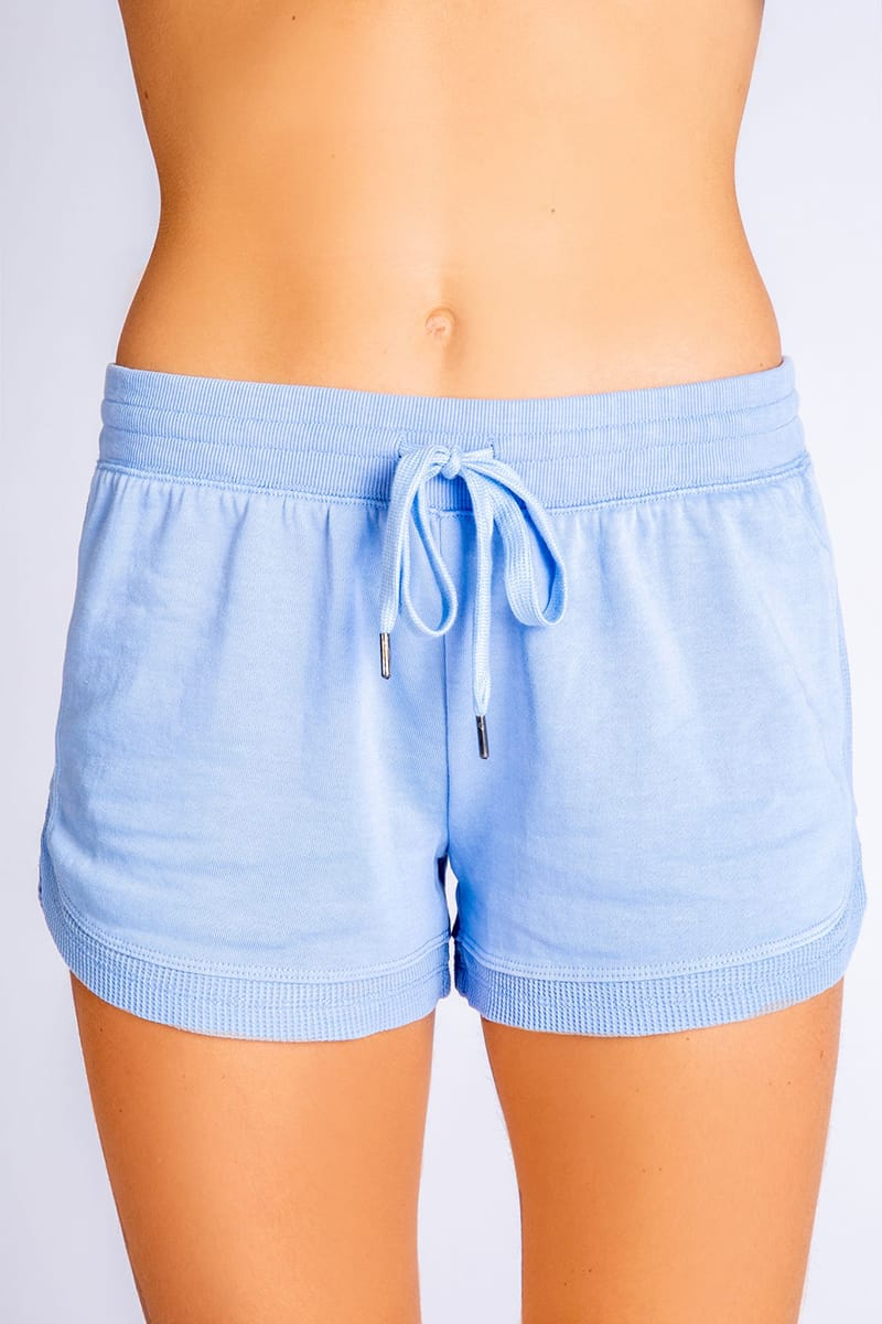 Pj Salavge Whats Your Sign Shorts In Powder Blue 71201