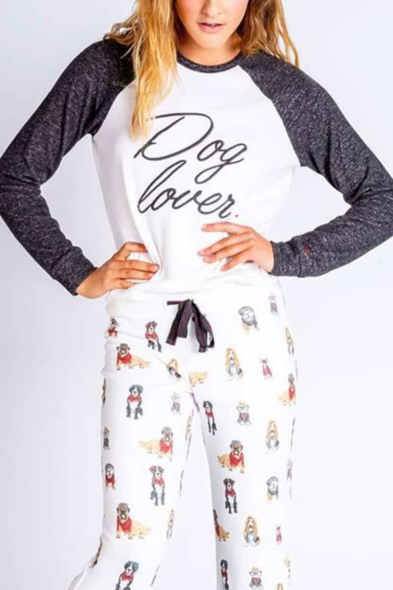 Pj Salvage Hipster Hounds Top In Ivory 73851