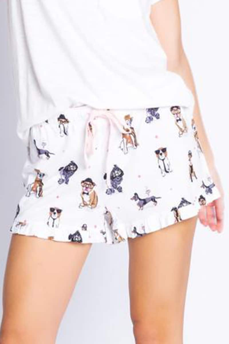 Pj Salvage Love Dogs Short In Ivory 80595